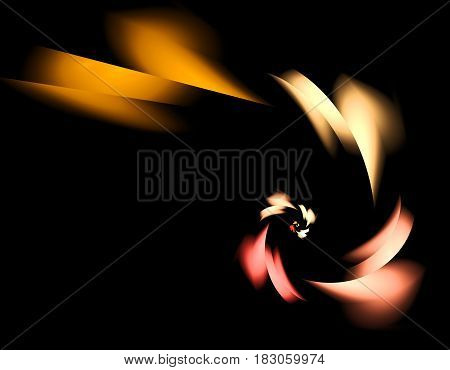 Colorful spiral abstract fractal illustration for creative design
