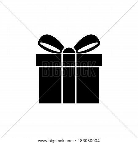 Gift solid icon, mothers day, giftbox with ribbon vector graphics, a filled pattern on a white background, eps 10.