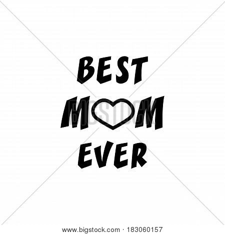 Best mom ever solid icon, mothers day, greeting card vector graphics, a filled pattern on a white background, eps 10.