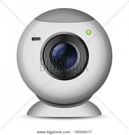 Vector illustration of web camera
