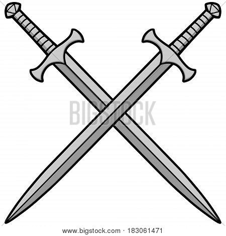 A vector illustration of some Crossed Swords.