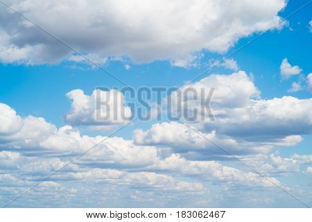 Bright Clouds In Sunny Weather In The Sky