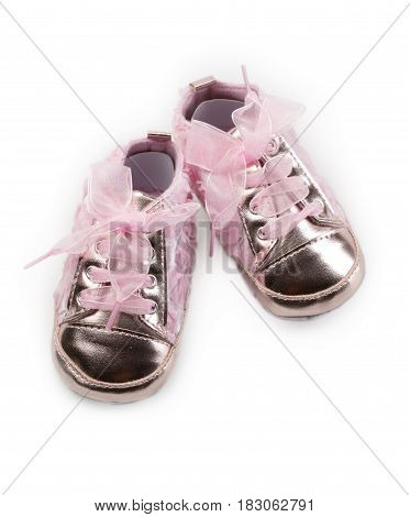 Childrens fashion slippers isolate on a white background