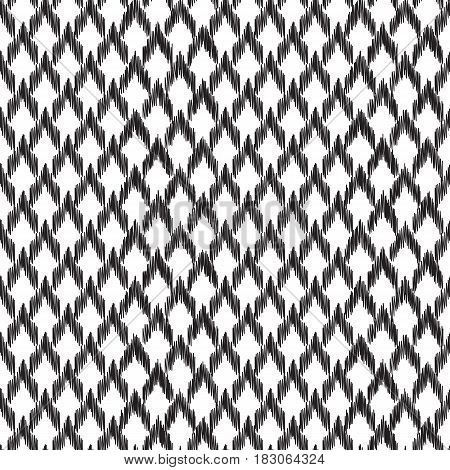 Black and white vector seamless pattern with repeat corner element. Print for fashion fabric, home decor textile, wallpaper, card and wrapping paper.