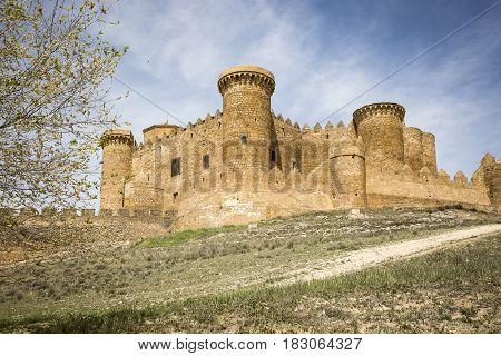 the Castle in Belmonte town, province of Cuenca, Castilla La Mancha, Spain