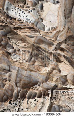 The Quaint Texture Of The Coastal Rock 2