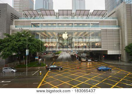 HONG KONG - CIRCA NOVEMBER, 2016: view of Apple store in Hong Kong.