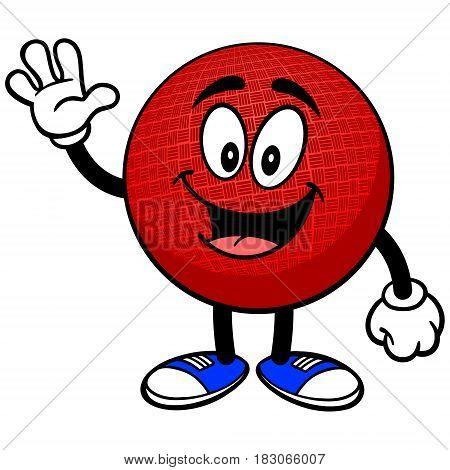 A vector illustration of a cartoon Dodge Ball.