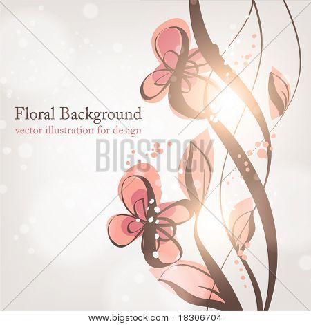 floral background, greeting vector card. eps 10.