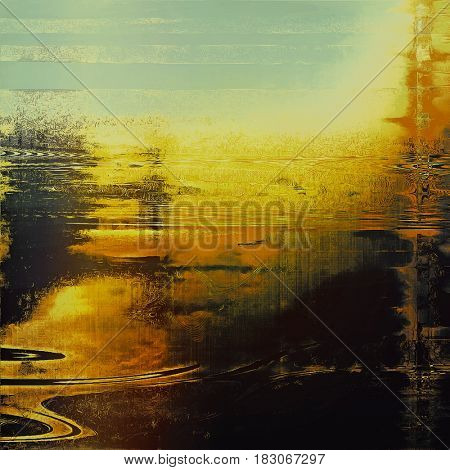 Veined grunge background or scratched texture with vintage feeling and different color patterns: yellow (beige); brown; red (orange); black; cyan