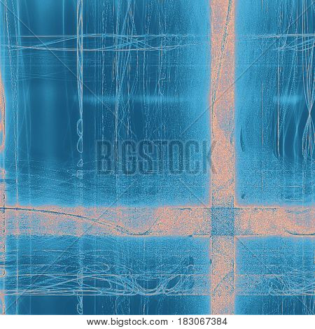 Retro style abstract background, aged graphic texture with different color patterns: yellow (beige); blue; cyan; red (orange)