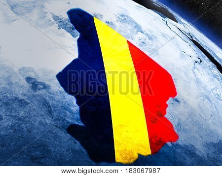 Chad With Embedded Flag From Space