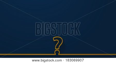Question mark on blue background - 3d rendering