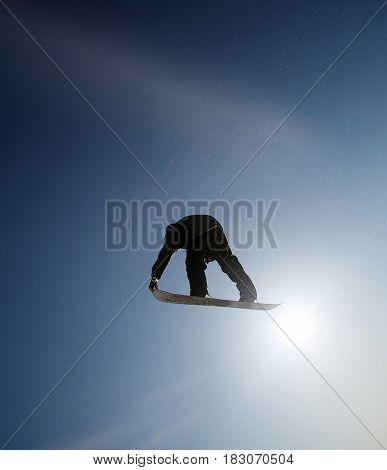 Snowboarder In Sky