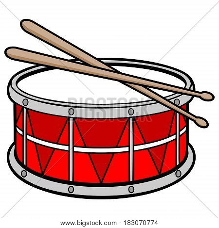 A vector illustration of a Percussion Drum.