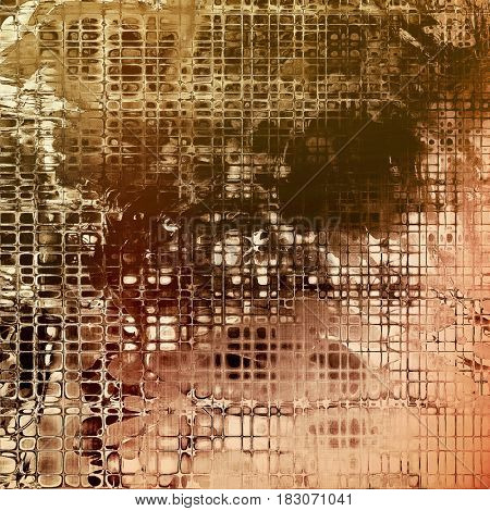 Stylish grunge texture, old damaged background. With different color patterns: yellow (beige); brown; gray; black; white