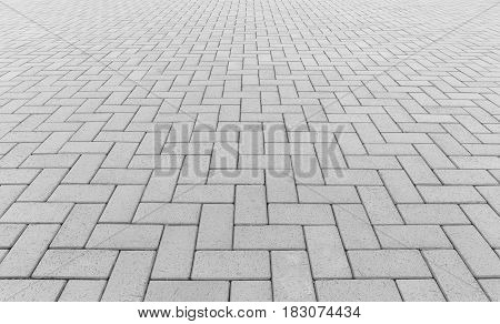 Concrete paver block floor pattern for background.