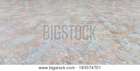 Stone tile floor with geometric line for background.