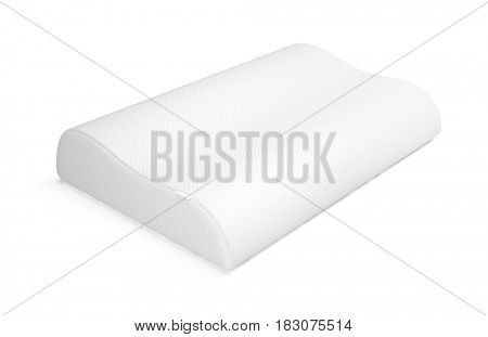 Orthopedic pillow isolated on white. 3d render