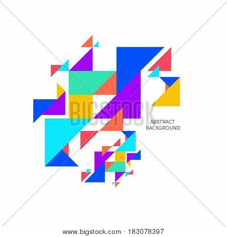 Abstract colorful geometric background can be used for template poster backdrop book cover brochure leaflet vector illustration