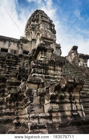 tower of Angkor Wat, Siem Reap, Cambodia