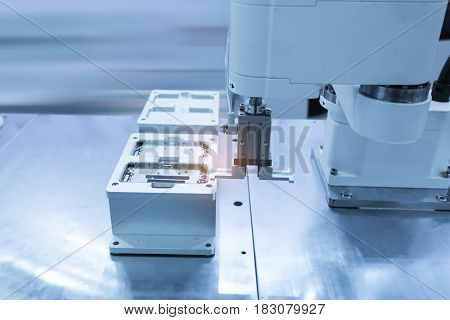 artificial intelligence machine working in phone factory