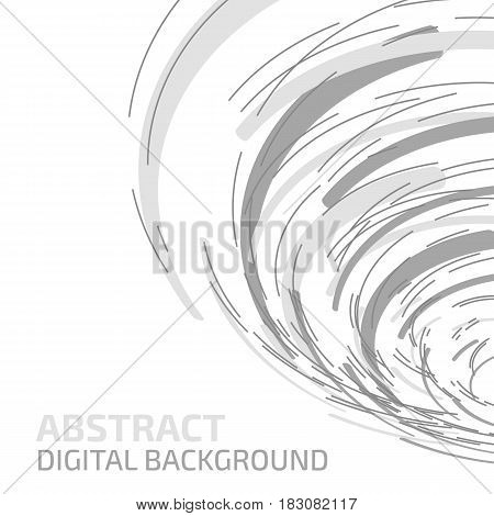 Technology background. Abstract digital illustration. Vector connection concept. Electronic round design. Modern abstraction lines and points.