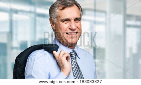Smiling senior businessman portrait
