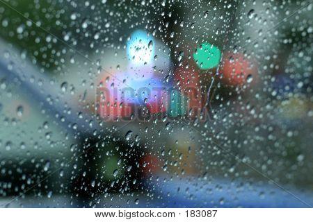 Raindrops On Window 02