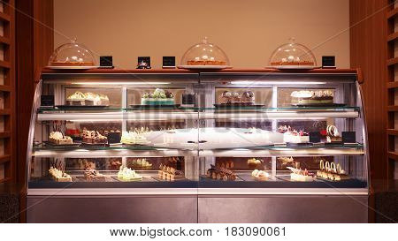 Confectionary Shop Display Background. Sweet Treats Variety. Small Business Concept