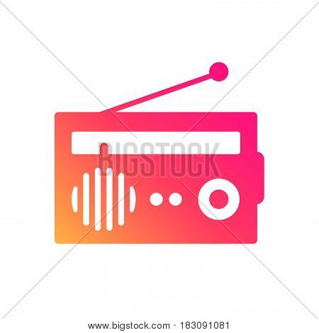 The Radio Themed Icon Pack. Abstract logo for music band radio broadcasting or recording studio. Control panel CDJ music station. Vector illustration flat design pixel perfect icon.