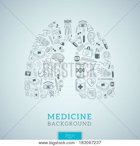 Vector background for medical topic. Eps 10 illustration.