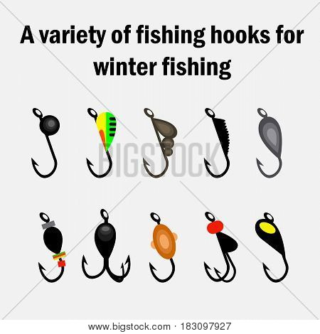 fishing hooks for winter fishing. Fishing Collection