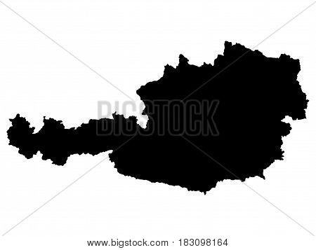 High detailed vector map - Austria on a white background
