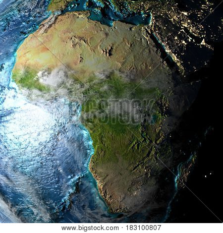 Africa On Physical Map