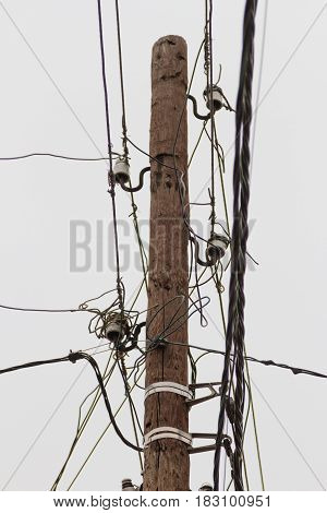 Pole With Wires