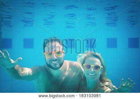 Underwater Portrait Of Couple