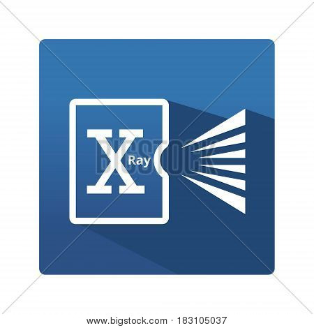 Digital radiography pictogram. Industrial icon in trendy flat style on blue background. Digital radiography symbol for your web site design, logo, app. Vector illustration, EPS10