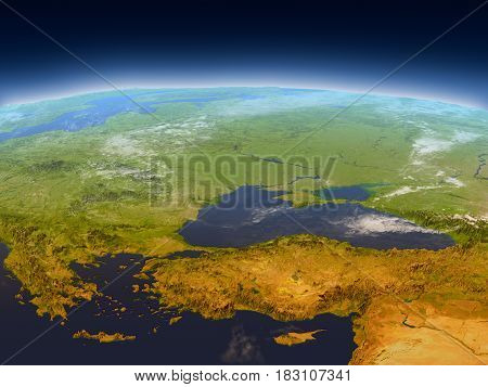 Turkey And Black Sea Region From Space