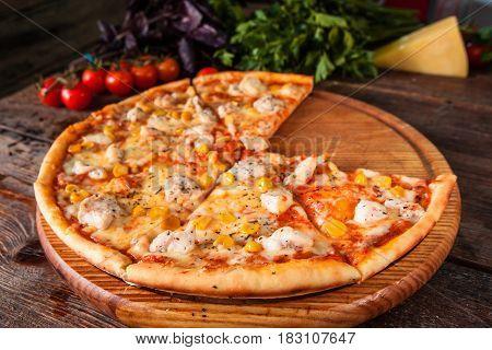 Pizza Fast Food Restaurant Menu Ingredients Italian Cuisine National Concept
