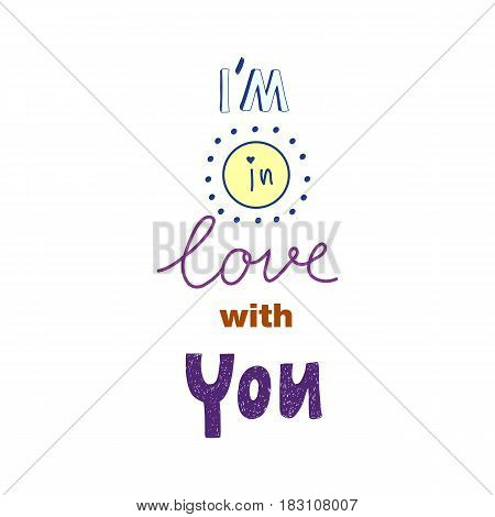 Romantic hand drawn lettering I