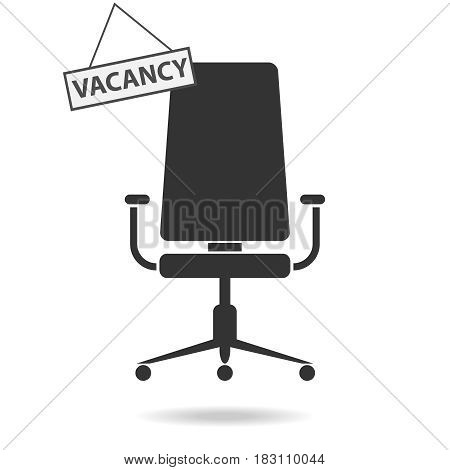 Vacant place job search. Flat design vector illustration vector.