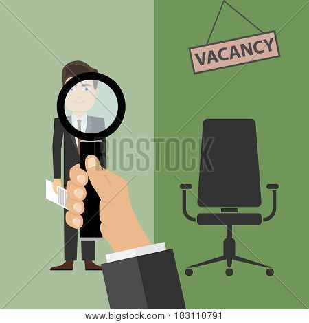 Recruitment free vacancy. Flat design vector illustration vector.