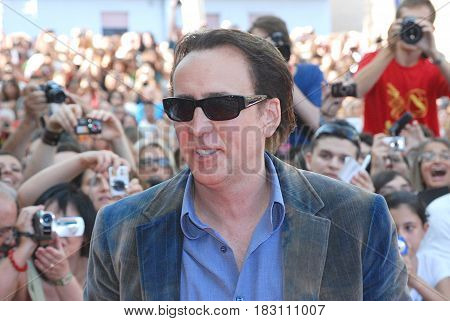 Giffoni Valle Piana Sa Italy - July 18 2012 : Nicolas Cage at Giffoni Film Festival 2012 - on July 18 2012 in Giffoni Valle Piana Italy