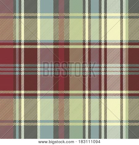 Abstract background check fabric texture seamless pattern. Vector illustration.