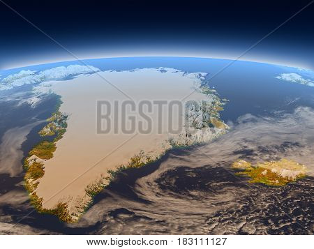Greenland And Iceland From Space