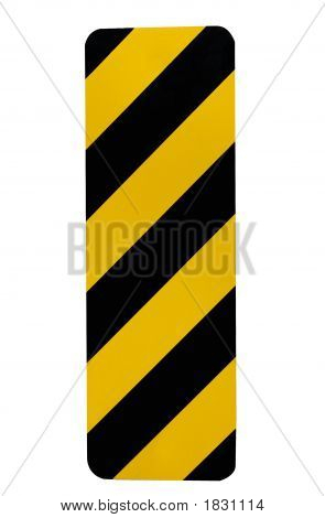 Hazard Or Caution Road Sign Isolated On White