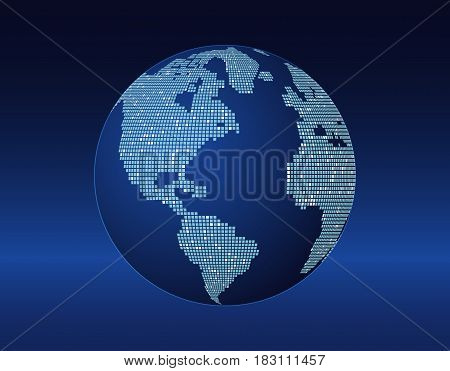 concept of the planet earth with bright spots