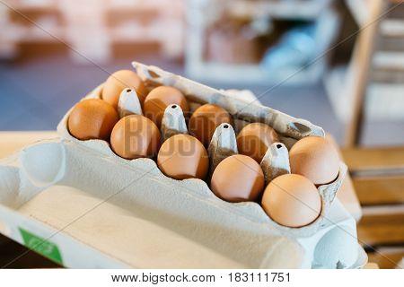 Package Of Ten Fresh Raw Chicken Eggs