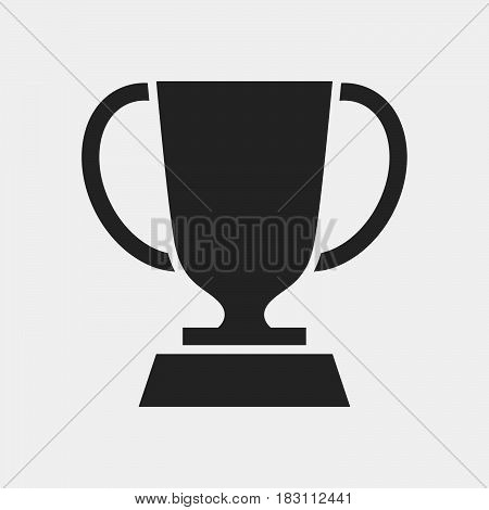 trophy Icon Vector isolated on white .